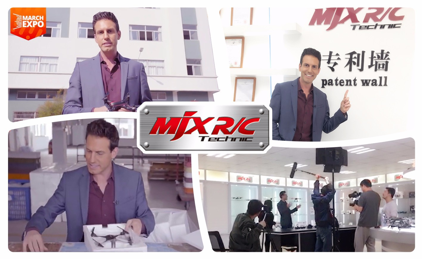 USA famous TV host visited MJX and made his RC drone talk show